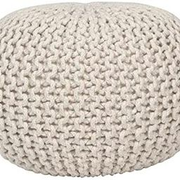 Fernish Décor Hand Knitted Cotton Ottoman Pouf Footrest 20x20x14 INCH, Living Room Accent seat (...   Amazon (US)