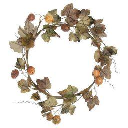 """18"""" Dried Grape Leaf Wreath   Wayfair North America"""
