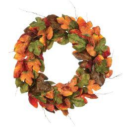 "33"" Large Leaf Wreath | Wayfair North America"