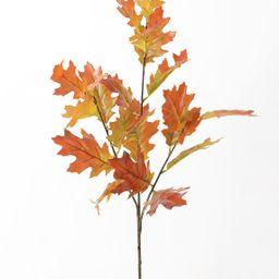 "Autumn Orange Artificial Fall Oak Leaf Branch - 38""   Afloral (US)"