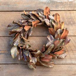 Park Hill Collection Bronzed Magnolia Leaf Wreath | Target