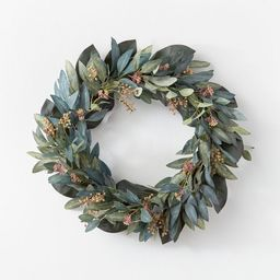 """26"""" Artificial Olive/Eucalyptus Leaf with Berry Wreath - Threshold™ designed with Studio McGee 