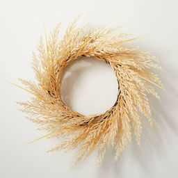 """24"""" Faux Bleached Wheat Grass Plant Wreath - Hearth & Hand™ with Magnolia 