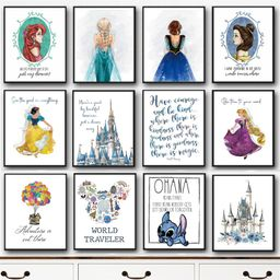 Lg. Enchanted Wishes Inspo Prints   Jane