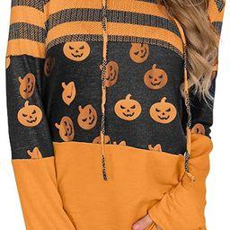 Lylinan Womens Hoodies Tops Casual Long Sleeve Color Block Drawstring Tunic Sweatshirt Pullover B... | Amazon (US)