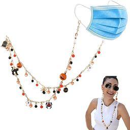 Beaded Mask lanyard Fashion Mask Holder Chains Necklace Anti-slip Eyewear Retainer | Amazon (US)
