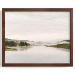 """Misty lake"" - Photography Limited Edition Art Print by Kamala Nahas. | Minted"