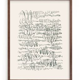 """""""Nature, you and me N.4 I"""" - Drawing Limited Edition Art Print by Catilustre. 