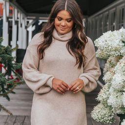 I Like You A Latte Oatmeal Sweater Dress | Apricot Lane Boutique