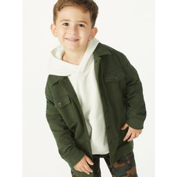 Free Assembly Boys French Terry Shacket, Sizes 4-18   Walmart (US)