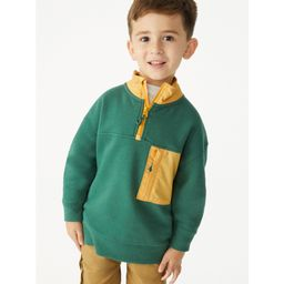 Free Assembly Boys Mock Neck Quarter Zip, Sizes 4-18   Walmart (US)