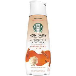 Starbucks Pumpkin Spice Flavored Almondmilk & Oatmilk Non-Dairy Liquid Coffee Creamer - 1.75pt | Target