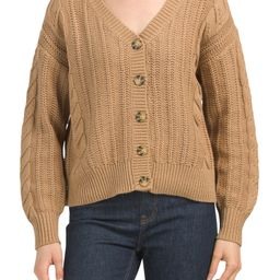 Cable Knit Button Front Cardigan | TJ Maxx