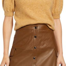 Lefile Puff Short Sleeve Ribbed Sweater   Nordstrom