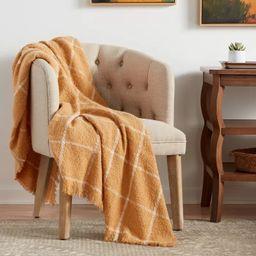 Boucle Windowpane Plaid Throw Blanket - Threshold™   Target