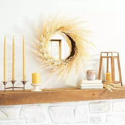 """24"""" Faux Bleached Wheat Grass Plant Wreath - Hearth & Hand™ with Magnolia   Target"""