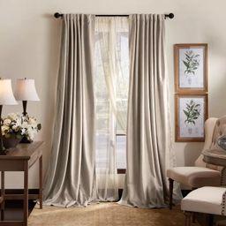 Set of 2 Lucca Velvet Blackout Curtain Panels - Martha Stewart | Target