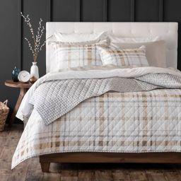 Bartlett Plaid Cotton Percale Quilt Set - Martha Stewart | Target