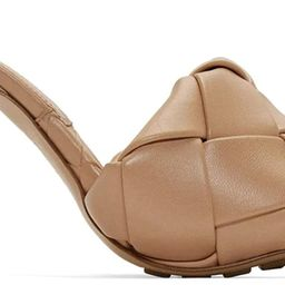 VETASTE Women's Square Open Toe Heeled Woven Leather Mule Sandals Stiletto Slip On Quilted High H... | Amazon (US)