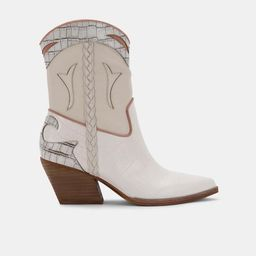 LORAL BOOTIES IN IVORY LEATHER   DolceVita.com