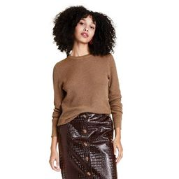 Women's Stitched Crewneck Pullover Sweater - Rachel Comey x Target Brown | Target