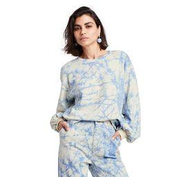 Women's Marble Print High-Low Sweatshirt - Rachel Comey x Target Blue   Target
