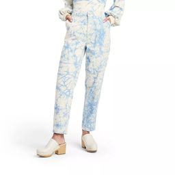Women's Marble Print High-Rise Tapered Jeans - Rachel Comey x Target Blue   Target