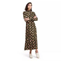 Women's Animal Print Long Sleeve Knit Dress - Rachel Comey x Target Olive Green | Target