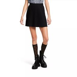 Women's Pleated Mini A-Line Skirt - Sandy Liang x Target Black   Target