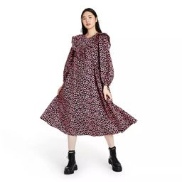 Women's Floral Print Long Sleeve Dress - Sandy Liang x Target Pink | Target