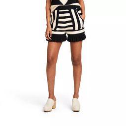 Women's Striped High-Rise Shorts - Victor Glemaud x Target Black/White | Target