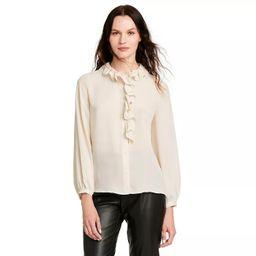 Women's Long Sleeve Ruffle Blouse - Nili Lotan x Target Cream   Target