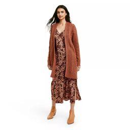 Women's Cableknit Cardigan - Nili Lotan x Target Brown   Target