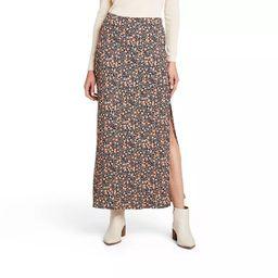 Women's Floral Print Maxi A-Line Skirt - Nili Lotan x Target Black   Target