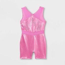 Girls' Shimmer Gymnastics Biketard - Cat & Jack™ Pink | Target