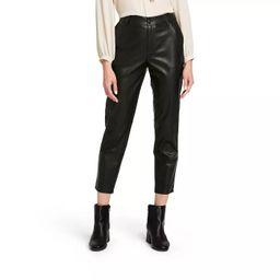 Women's High-Rise Skinny Ankle Faux Leather Pants - Nili Lotan x Target Black   Target