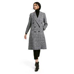 Women's Plaid Double Breasted Overcoat - Nili Lotan x Target Gray   Target