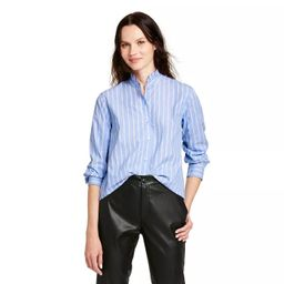 Women's Striped Long Sleeve Button-Down Shirt - Nili Lotan x Target Blue   Target