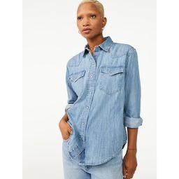 Free Assembly Women's Boyfriend Western Shirt | Walmart (US)