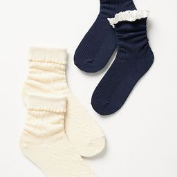 Hansel From Basel Pointelle Crew Sock Set | Anthropologie (US)