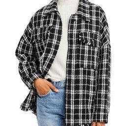 AQUA                                                                Plaid Shirt Jacket - 100% Exc...   Bloomingdale's (US)