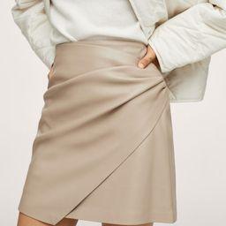 Skin effect mini skirt   MANGO (US)