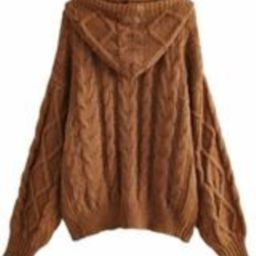 'Kelli' Cable Knit Zip-up Hoodie Cardigan ( 3 Colors) | Goodnight Macaroon