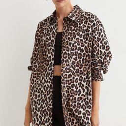 Oversized Cotton Shirt Jacket | H&M (US)