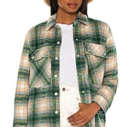 BLANKNYC Flannel Shacket in Green Room from Revolve.com | Revolve Clothing (Global)