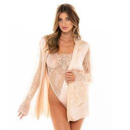 Women's Oh La La Cheri Satin & Lace Bodysuit & Robe Set 40-11440   Kohl's
