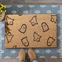 Little Ghosts Halloween Coir Doormat, Welcome Coirmat, Halloween Decor, Fall Decor, Autumn Decora... | Etsy (US)