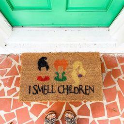 Hocus Pocus Inspired Doormat/ I Smell Children/ Fall Decor/ Halloween Doormat/ Sanderson Sisters/... | Etsy (US)