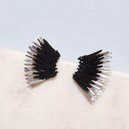 Mini Madeline Earrings Black/Silver | Mignonne Gavigan
