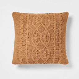 Oversized Cable Knit Chenille Throw Pillow - Threshold™ | Target
